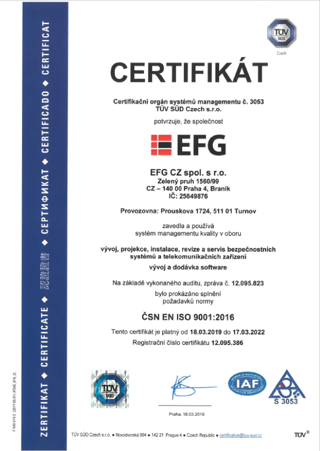 Management jakosti ISO 9001:2009