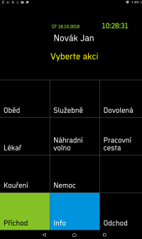 Tablet – vyber akci